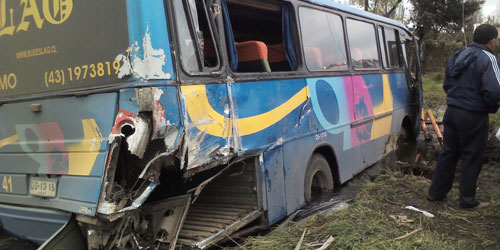 Accidente en Ruta Antuco - Los Ángeles deja a 26 lesionados