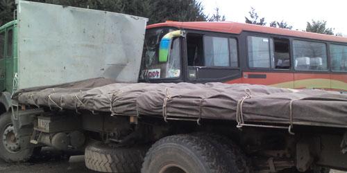 Accidente Ruta Antuco-Los Ángeles deja a una veintena de lesionados