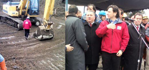 Los Ángeles, con la presencia del Ministro Golborne instalan primera piedra Estadio Polideportivo