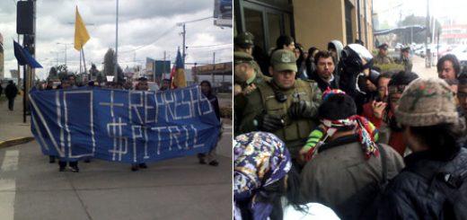 Los Ángeles - Marcha Pehuenche finaliza con entrega de demandas en Gobernación Provincial