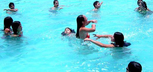 Apertura de temporada piscina municipal de Los Ángeles