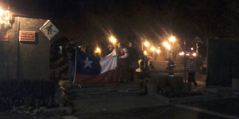 Durante esta noche comenzaron a retirar el cierre de Plaza de Armas de Los ngeles