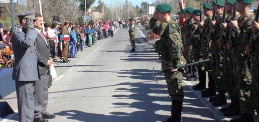 Más de cuarenta organizaciones del sector Salto del Laja dieron vida al acto cívico militar organizado por la Municipalidad de Los Ángeles
