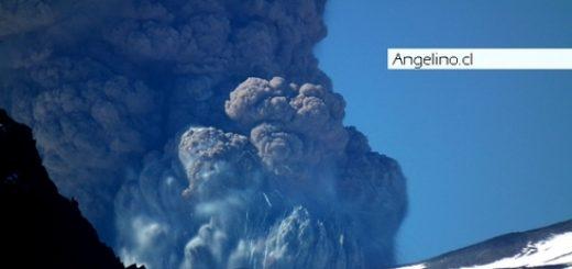 proceso aparentemente eruptivo que esta mostrando el Vólcan Copahue en la comuna de Alto Bío-Bío