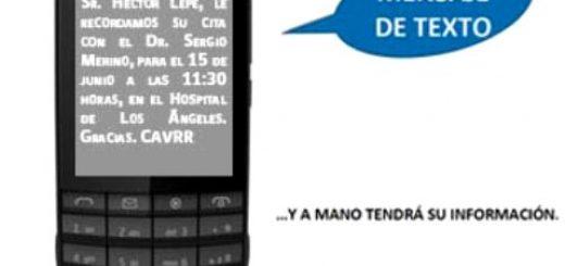 Hospital de Los Ángeles implementa programa de SMS para recordar horas médicas
