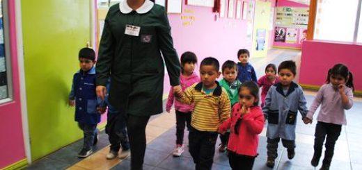 Junji realiza simulacro de incendio en nuevo jardín infantil de Los Ángeles