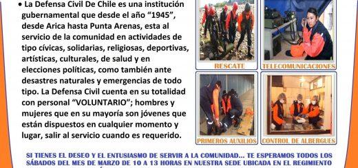 [HAZTE VOLUNTARIO] Defensa Civil de Chile Sede Los Ángeles