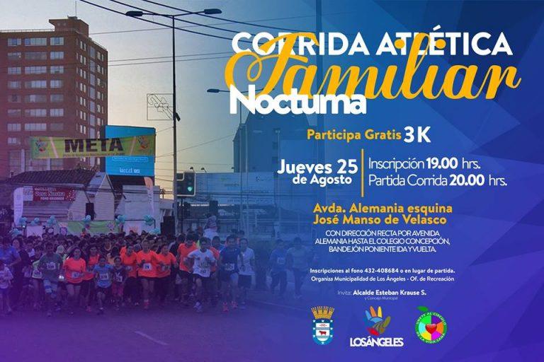 Corrida Atlética Familiar Nocturna 3K