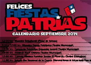 PROGRAMA FIESTAS PATRIAS LOS ÁNGELES