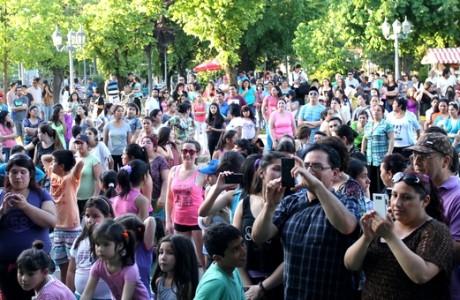 """Masiva participación tuvo """"Circuito Deportivo Callejero"""" en Los Ángeles"""