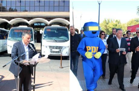 Inauguran nuevos buses y difunden campaña preventiva en inicio del año escolar