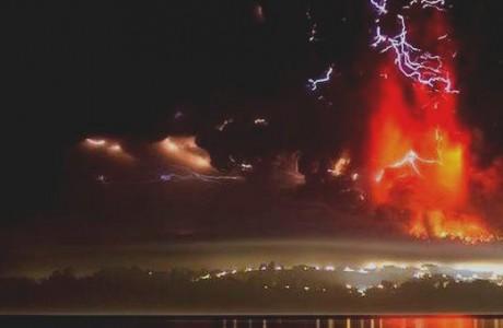 Monitoreo Alerta Roja para la Región de Los Lagos por erupción del volcán Calbuco