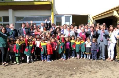 Escuela Amanecer de Duqueco inauguró nueva área preescolar