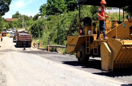 Comienza pavimentación I etapa de ruta entre Rere y Yumbel considera 4.5 kilómetros